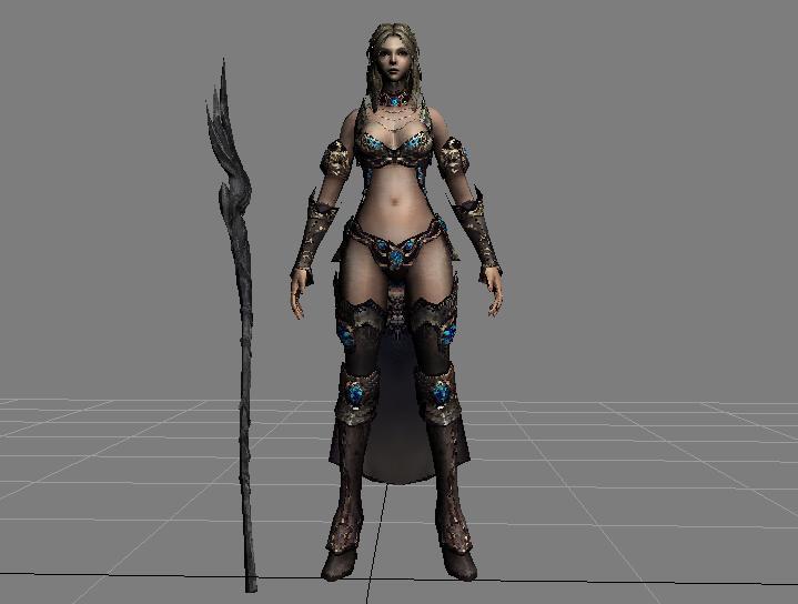 3D модель девушки для печати на 3D принтере
