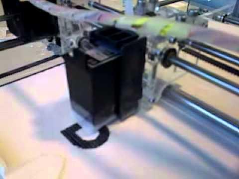 Самодельный 3D принтер Pwdr-Model-0.1