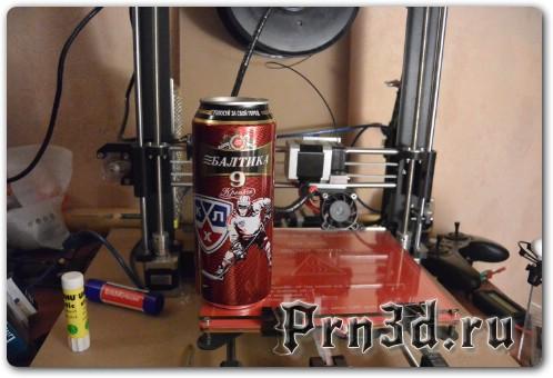 Печать ABS пластиком на пиво на 3D принтере